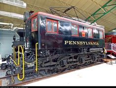 Pennsylvania B1 class 0-C-0 boxcab electric, Strasburg, PA. Built by Altoona Works in 1934 for switching duties with 62 inch drivers, 39,250 pounds of tractive effort & a top speed of 25mph. For more pics & videos from my collection see my website at http://northamericabyrail.info/ (New trips added)