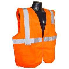 Radians Hi Vis Orange Solid Vest with Zipper Class 2 - SV2Z
