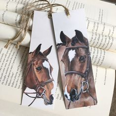 Makes a great gift for your favourite bookworm! Set includes your choice of two pony bookmarks. Cross Eyed Cat, Cute Bookmarks, Street Fair, Unicorn Horse, Horse Gear, Gifts For Horse Lovers, Equestrian Outfits, Book Worms, Journals