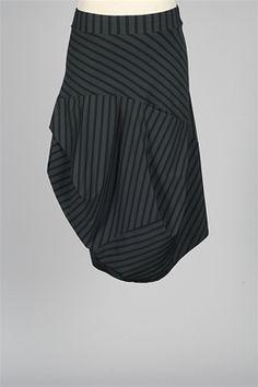 Porto - Istanbul Skirt - Petrol & Black Stripe