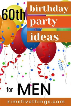 20 Best 60th Birthday Party Ideas for Men. Guide to all the supplies and decorations you need for a fabulous 60th birthday celebration. #gifts #60thbirthday #partysupplies #partysuppliesformen 60th Birthday Decorations, 60th Birthday Gifts, Man Birthday, Birthday Celebration, Birthday Parties, Gag Gifts, Party Supplies, Party Favors, Party Ideas