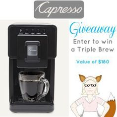 Capresso Triple Brew Giveaway 5/31 ~ Tales From A Southern Mom