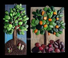 Artist Michela Bufalini has invented her own medium: Painted rock art. Her unique painted pebbles bring vibrant scenes to life in Stone Crafts, Rock Crafts, Arts And Crafts, Diy Crafts, Pebble Painting, Pebble Art, Stone Painting, Pebble Mosaic, Rock Painting