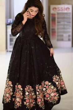 Beautiful Indian Party Wear New Soft Net Embroidered Lehenga Choli With Dupatta - Buy lehenga choli online Indian Fashion Dresses, Indian Gowns Dresses, Indian Designer Outfits, Pakistani Dresses, Black Pakistani Dress, Black Lehenga, Party Wear Dresses, Bridal Dresses, Dress Outfits