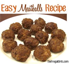 Easy Meatballs Recipe! ~ from TheFrugalGirls.com {make some for your pasta dinner... or as a delicious appetizer!}