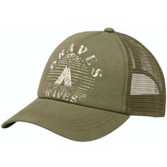 b6ccb359481 Billabong Women s Good Vibes Trucker Hat ( 18) ❤ liked on Polyvore  featuring accessories