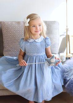 Girls Smocked Dresses, Flower Girl Dresses, Toddler Dress Patterns, Heirloom Sewing, Little Girl Outfits, Smock Dress, Baby Dress, Smocking, Knitwear
