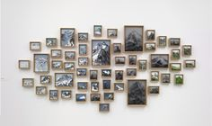 holon, 53 parts,2012, 130x260 cm, oil on canvas boards, framed in oak-nature
