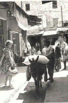 Mercado católica en la ciudad de Nazaret-Palestina 1960