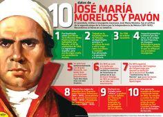 El 30 de septiembre festejamos el natalicio del General José María Morelos y Pavón, quien fuera el principal personaje encargado de la segunda etapa de la Guerra de Independencia. Conoce más acerca de él. #Infographic.
