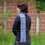 Frosty Windows Scarf DONATIONWARE crochet pattern