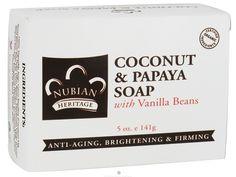 Buy Nubian Heritage - Bar Soap Coconut & Papaya - 5 oz. at LuckyVitamin.com