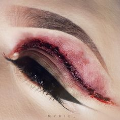 This horror makeup is incredible I love his the eye s bruised