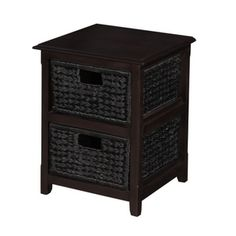 Home Hardware - 2 Drawer Chest, with Wicker Baskets For Living room side table! Chest Of Drawers, Wicker Baskets, Bedside, Back To School, Entrance, Sweet Home, Indoor, Storage, Table