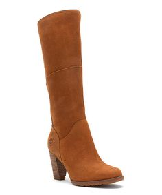 Love this Timberland Brown Stratham Heights Tall Leather Boot - Women by Timberland on #zulily! #zulilyfinds