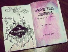 Marauder's Map Wreck This Journal