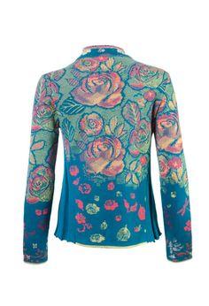 Brocade Jacket with Pleats - Jacket | Ivko Woman