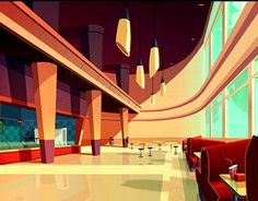 """Background colors and colorkeys for the animated series for BBC """"The Pinky & Perky Show"""""""