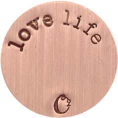 LARGE ROSE GOLD LOVE LIFE / ROSEGOLD PLATES   ORIGAMI OWL CUSTOM JEWELRY   STAMPED PLATE