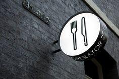 New exterior design cafe signage ideas Cafe Signage, Restaurant Signage, Shop Signage, Retail Signage, Outdoor Signage, Wayfinding Signage, Signage Design, Cafe Design, Branding Design