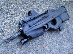 FN 2000 - 5.56×45mm NATO Bullpup Design - Belgium Army Special Forces Group Assault Rifle - Rate of Fire 850 Rounds per Minute - In Use (2001-Present)
