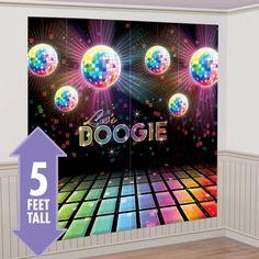 Disco Fever Scene Setter 2pc - Party City