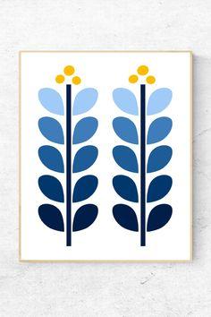 Mid Century Modern Art, Mid Century Art, Diy Wall Art, Diy Art, Flower Wall, Flower Prints, Small Canvas Art, Modern Prints, Fabric Painting