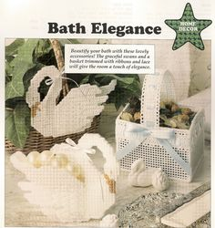 Bath Elegance Plastic Canvas Pattern. I love Swans ~!~