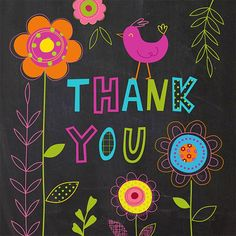 Thank you card by illustrator, Nina Seven Happy Birthday Pictures, Happy Birthday Messages, Birthday Wishes, Birthday Cards, Thank You Images, Thank You Quotes, Thank You Goodbye, Thank U Cards, Sending Hugs