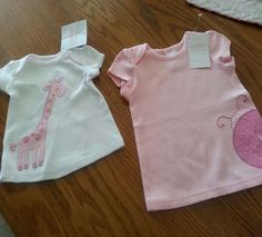New Gymboree Brand New Baby Girl White or Pink Tee Tops Shirts 0-12M Spring NWT #Gymboree #Everyday eBay item number:  151606012867