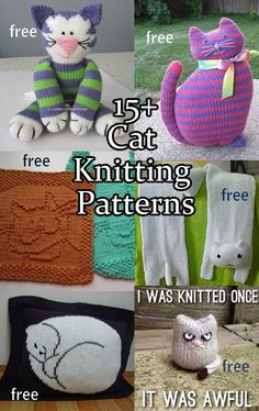 Free knitting patterns for Cats and Kittens