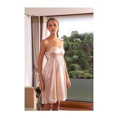 Michelle Silk Short Gown design by Kumi Kookoon (310 CAD) ❤ liked on Polyvore featuring intimates, sleepwear, nightgowns, spa essentials, silk nightie, short nightie, silk nightgown, silk sleepwear and kumi kookoon
