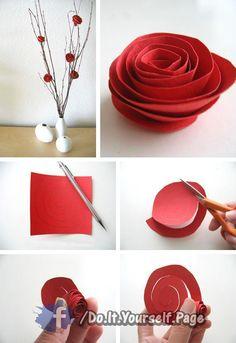 종이, 꽃, 장미