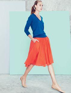 blue & orange via jcrew. I SO love this!!! The colors are Gorgeous!