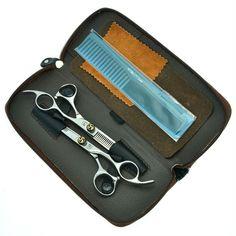 "6.0"" Salon Hairdresser Hair Scissors Kit Cutting Thinning Shears Haridressing Barber Set JP440C, LZS0147"