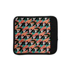 """Tobe Fonseca """"Sushi Panda"""" Orange Blue Luggage Handle Wrap"""