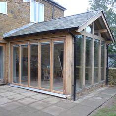 The Design Centre Green Oak Frame Garden Room Extension