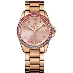 """Juicy Couture Women's Stella Rose Gold-Tone Stainless Steel Bracelet Watch 36mm 1901207"" found on Polyvore"