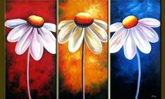 Talking about easy acrylic canvas painting ideas, there is simply no end to options. But you need a starting point to begin your work. Multi Canvas Painting, Multiple Canvas Paintings, Abstract Painting Easy, Easy Flower Painting, Acrylic Painting Flowers, Simple Acrylic Paintings, Abstract Canvas Art, Acrylic Canvas, Easy Paintings