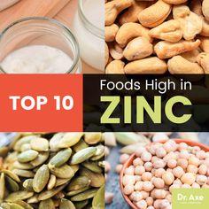 Top 10 Foods High in Zinc, Zinc Benefits & Zinc Foods Recipes - Dr. Foods High In Zinc, Zinc Rich Foods, Zinc Benefits Skin, Health Benefits, Mineral Nutrition, Zinc Deficiency, Cancer Fighting Foods, Health Diet, Health Blogs