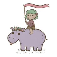 KYE CHENG — A girl and her Hippo
