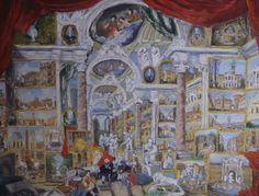panini paolo, obrazárna, old master, pastel ,copy, paper, picture by ZdenekVeselyArt on Etsy