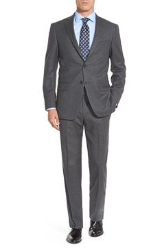 Hart Schaffner Marx 'New York' Classic Fit Solid Wool Suit available at #Nordstrom