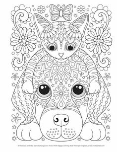 Coloring Book: Craft, Pattern, Color, Chill (Coloring Is Fun) Dog Coloring Page, Printable Adult Coloring Pages, Cute Coloring Pages, Mandala Coloring Pages, Animal Coloring Pages, Coloring Pages To Print, Coloring Books, Kids Colouring, Adult Coloring Pages