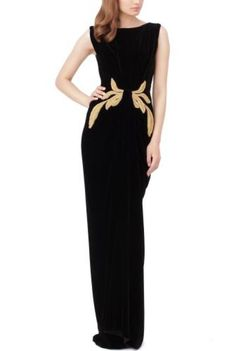 Rochie de seara Dalyia din catifea neagra