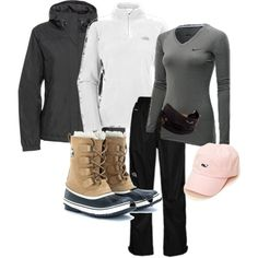 A fashion look from January 2013 featuring The North Face, NIKE and black leather boots. Browse and shop related looks.