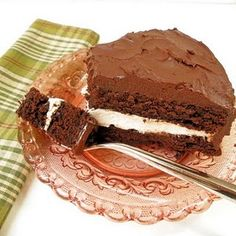 chocolate peppermint fudge cake....I want this for my birthday