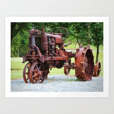Antique Tractor Art Print by ThinkPics - $13.52