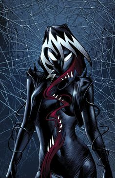 Spider-Gwen ComicXposure Exclusive Variant Cover by Mike Deodato Jr. Marvel Venom, Marvel Vs, Marvel Dc Comics, Marvel Heroes, Captain Marvel, Venom Comics, Spider Girl, Spider Gwen Venom, Venom Girl