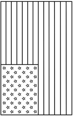 coloring page - American Flag